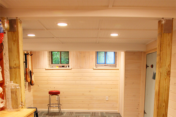 Basement ceiling ideas basement ceiling installation - How to finish a basement ...