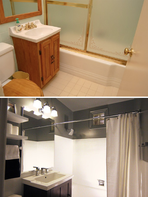 Stupendous Bathroom Makeover Before And After Mycoffeepot Org Best Image Libraries Thycampuscom