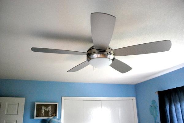 Ceiling fan in nursery