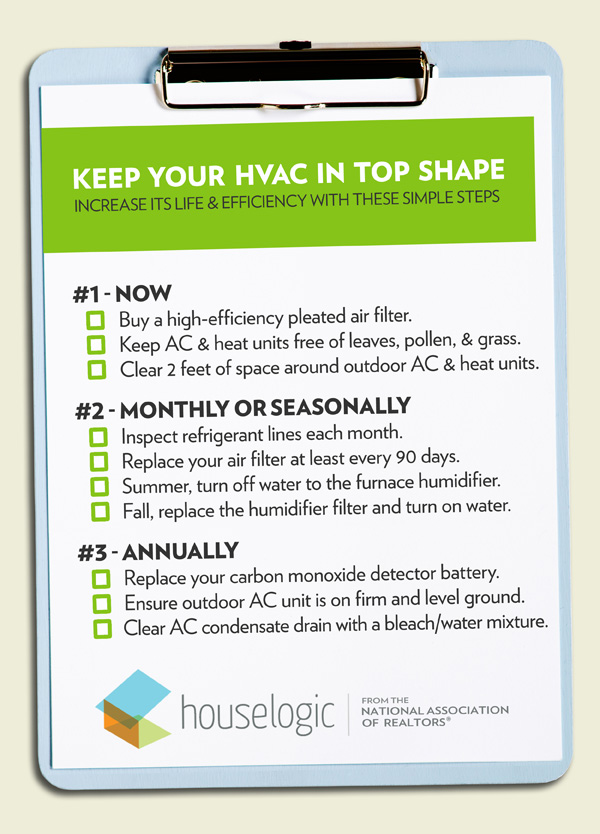 HVAC checklist for homeowners