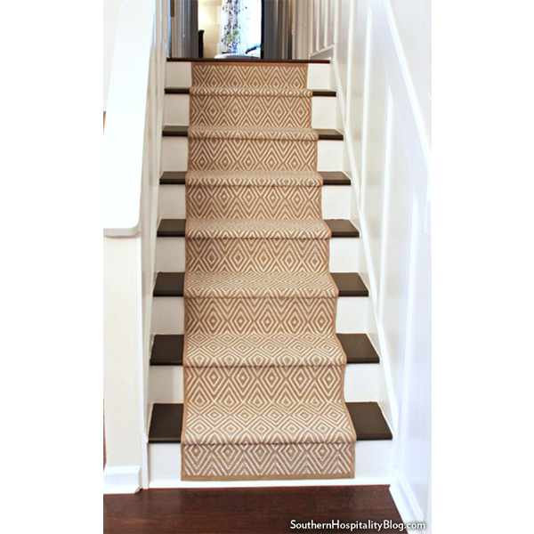 Replacing Carpet With A Stair Runner: A Runner Shapes Up A Tired Staircase