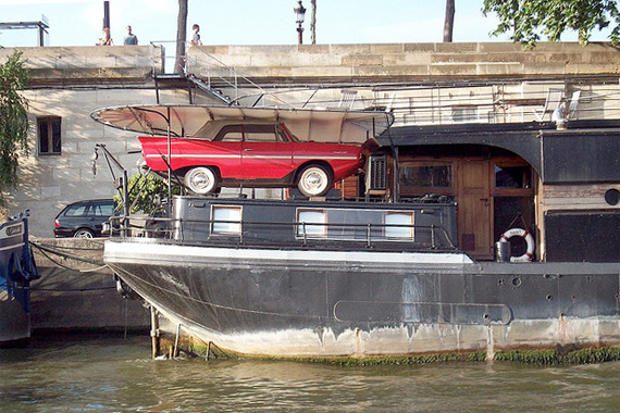 Car Garage: Wacky, Weird and Wonderful | Home Improvement Ideas - Exotic Houseboat Designs