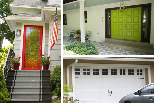 A Collage Of Exterior Paint Ideas That Boost Curb Eal