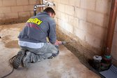 Installing a basement French drain