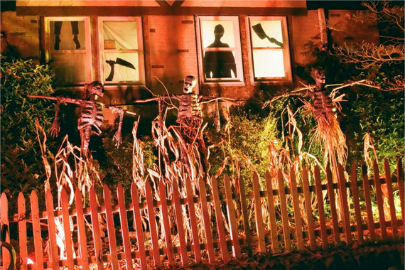 outdoor halloween lighting. Modren Halloween Turn Up The Background Lights To Create A Wholehouse Luminary & Outdoor Halloween Lighting Exellent Halloween This Intended Outdoor ...